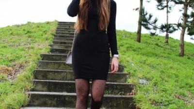 Black Turtleneck Dress – SheIn