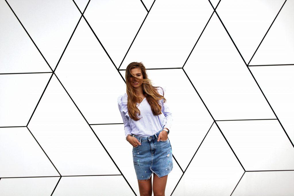 Jeans Skirt Look