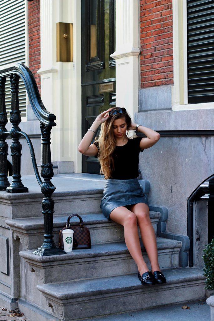 Leather Skirt & Coffee @ Amsterdam