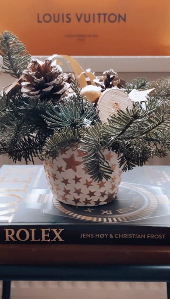 Kerststukje & Rolex boek